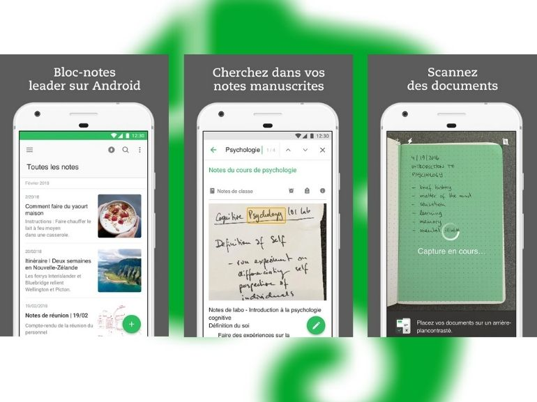 evernote capture ecran application 770 577 - 4 Android and iOS apps to take notes efficiently