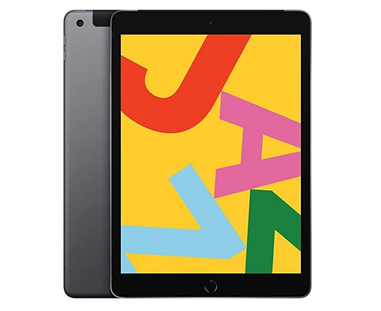 The Apple iPad 32 GB touchscreen tablet, packshot visual
