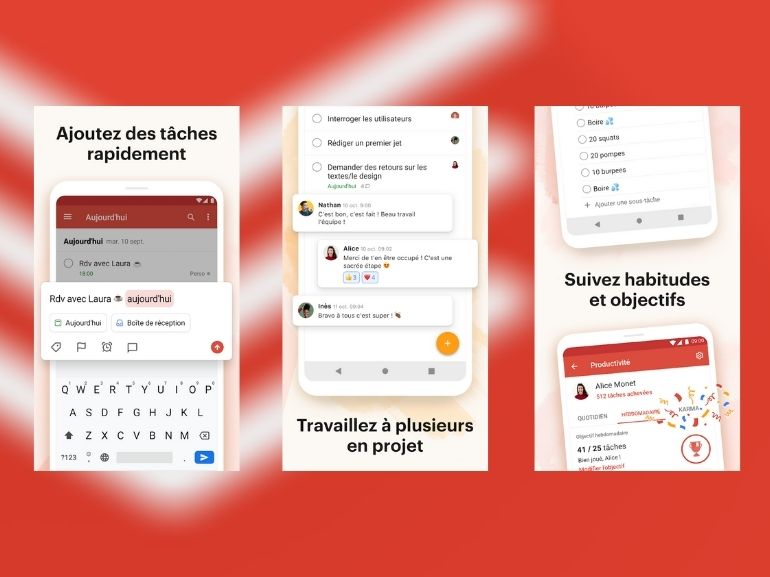 todoist application capture ecran 770 577 - 4 Android and iOS apps to take notes efficiently