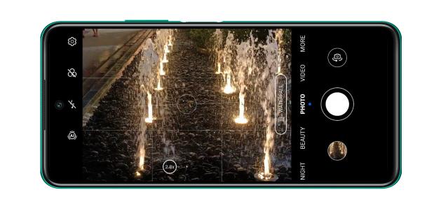 Le mode photo AI du Honor 10X Lite et sa vitesse d'obturation de 1/900s.