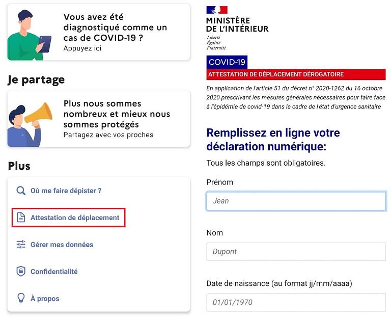 Tousanticovid L Attestation De Deplacement Devrait Prochainement Etre Disponible Dans L Application Cnet France