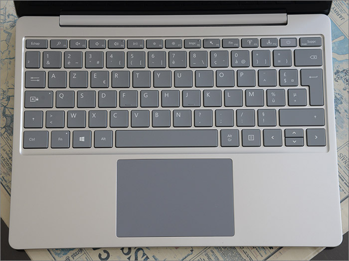 Trackpad et clavier