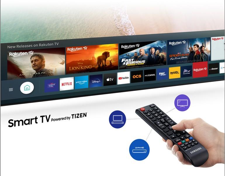 l'interface Tyzen des smart TV Samsung