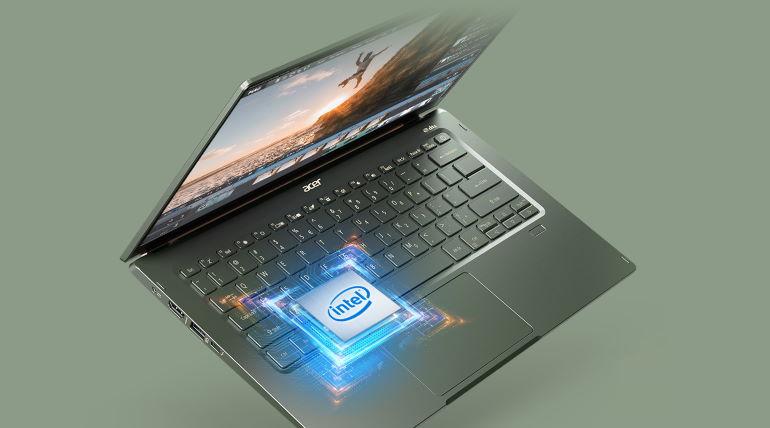 Un PC Acer Aspire 5 avec une puce Intel embarquée