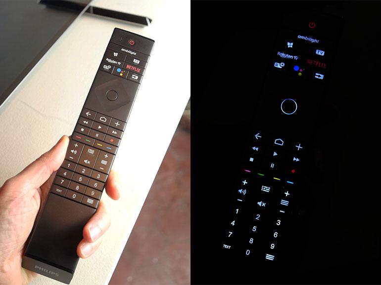 La nouvelle télécommande dispose d'un rétroéclairage pour retrouver les touches dans le noir
