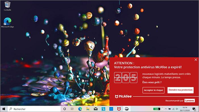 Publicité antivirus
