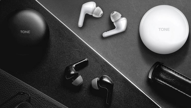 Les écouteurs LG Tone Free.