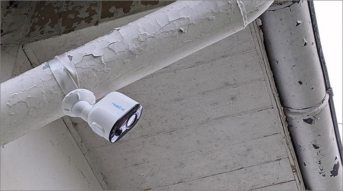 Caméra sur gouttière