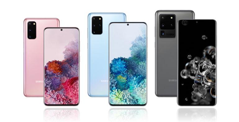 La famille de smartphones Galaxy S20