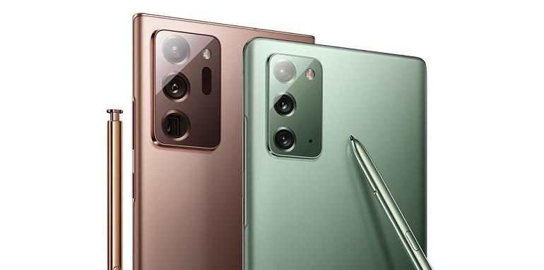 Le smartphone Samsung Galaxy Note 20