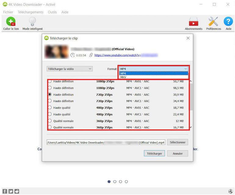 Télécharger des vidéos à partir de 4K Downloader