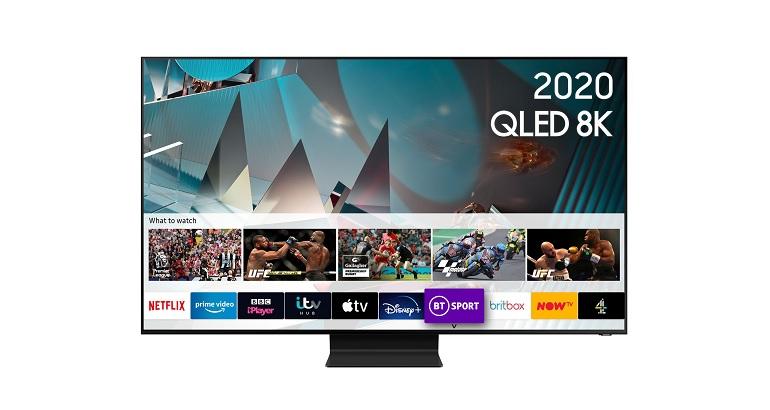 Le téléviseur QLED 65 pouces Samsung QE65Q800T 2020, photo packshot