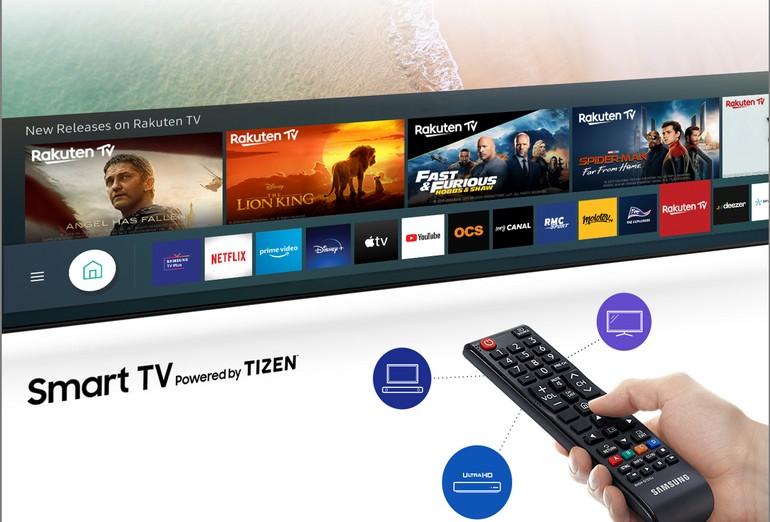 L'interface Smart TV by Tyzen du téléviseur Samsung UE50TU7125