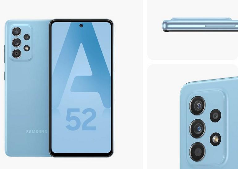 Le smartphone Samsung Galaxy A52 vu sous toutes les coutures