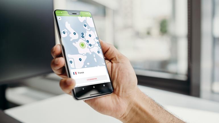 la carte des serveurs VPN affichée dans l'application mobile NordVPN