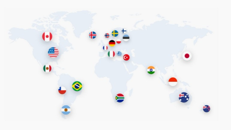 carte des serveurs NordVPN