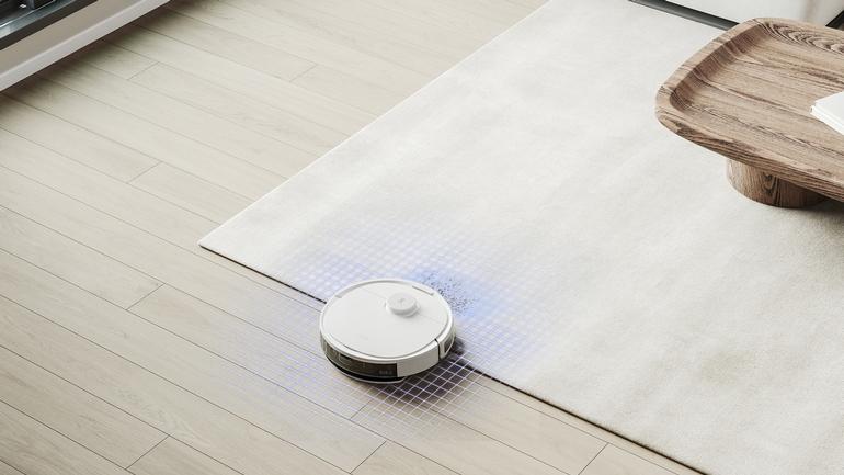l'aspirateur-robot Ecovacs Deebot N8+ détecte automatiquement les changements de surface