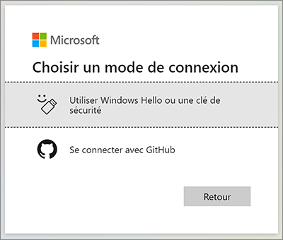 Connexion Microsoft