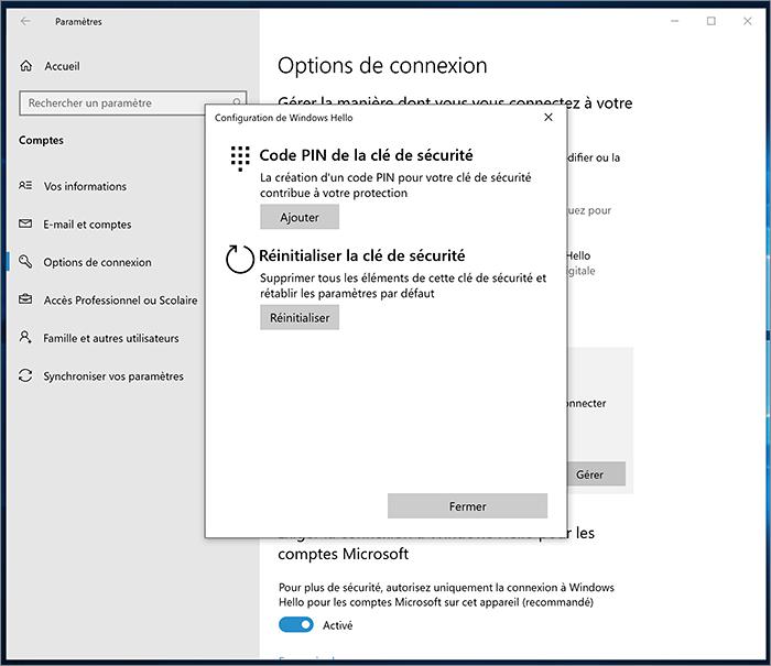 Options de Windows