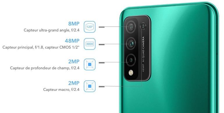 les capteurs photo du smartphone Honor10XLite