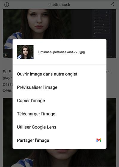 Recherche sur Android