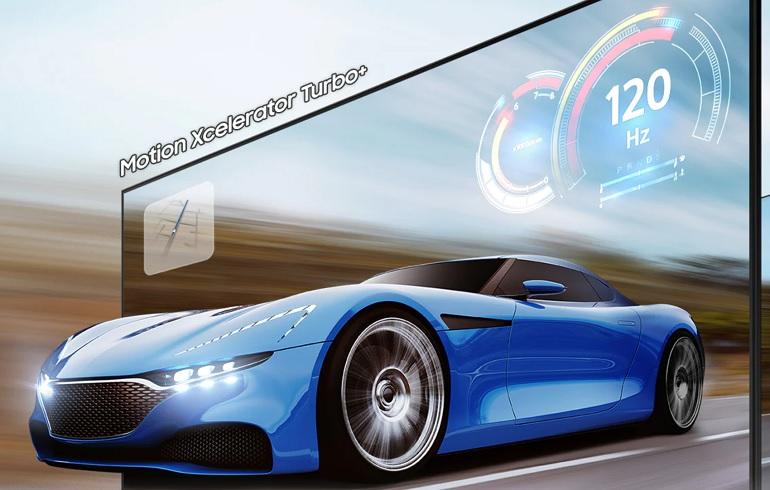 Le mode gaming 120 Hz des téléviseurs Samsung Neo QLED.