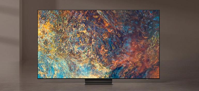 un téléviseur Samsung Neo QLED, visuel produit