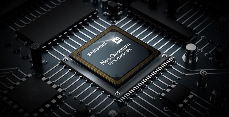 Le processeur Neo Quantum des téléviseurs Samsung Neo QLED.
