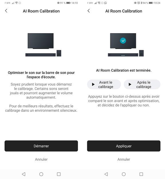 Appli LG Soundbar Calibration