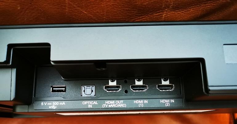 Barre de son LG SP11RA connectique arrière