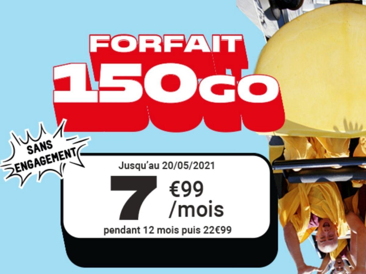 NRJ Mobile lance un forfait 150 Go à 7,99 euros (pendant un an)