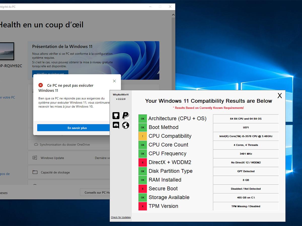 Windows 11 : mon PC est-il compatible, et si non, pourquoi ?