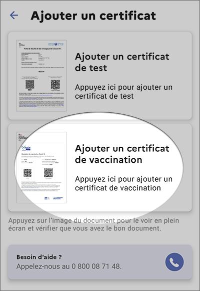 Ajout vaccin