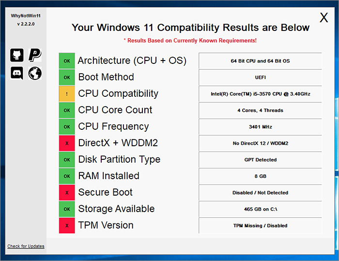 Pourquoi pas de Windows 11