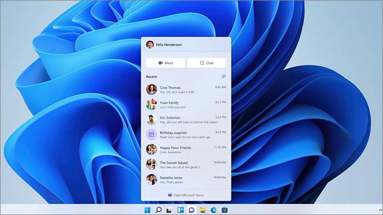 Teams dans Windows 11