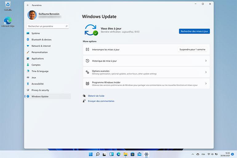 Paramètres de  Windows 11