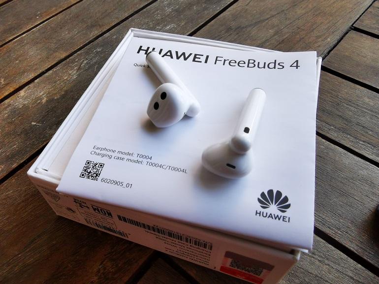 Huawei FreeBuds 4 - Boite et guide de prise en main