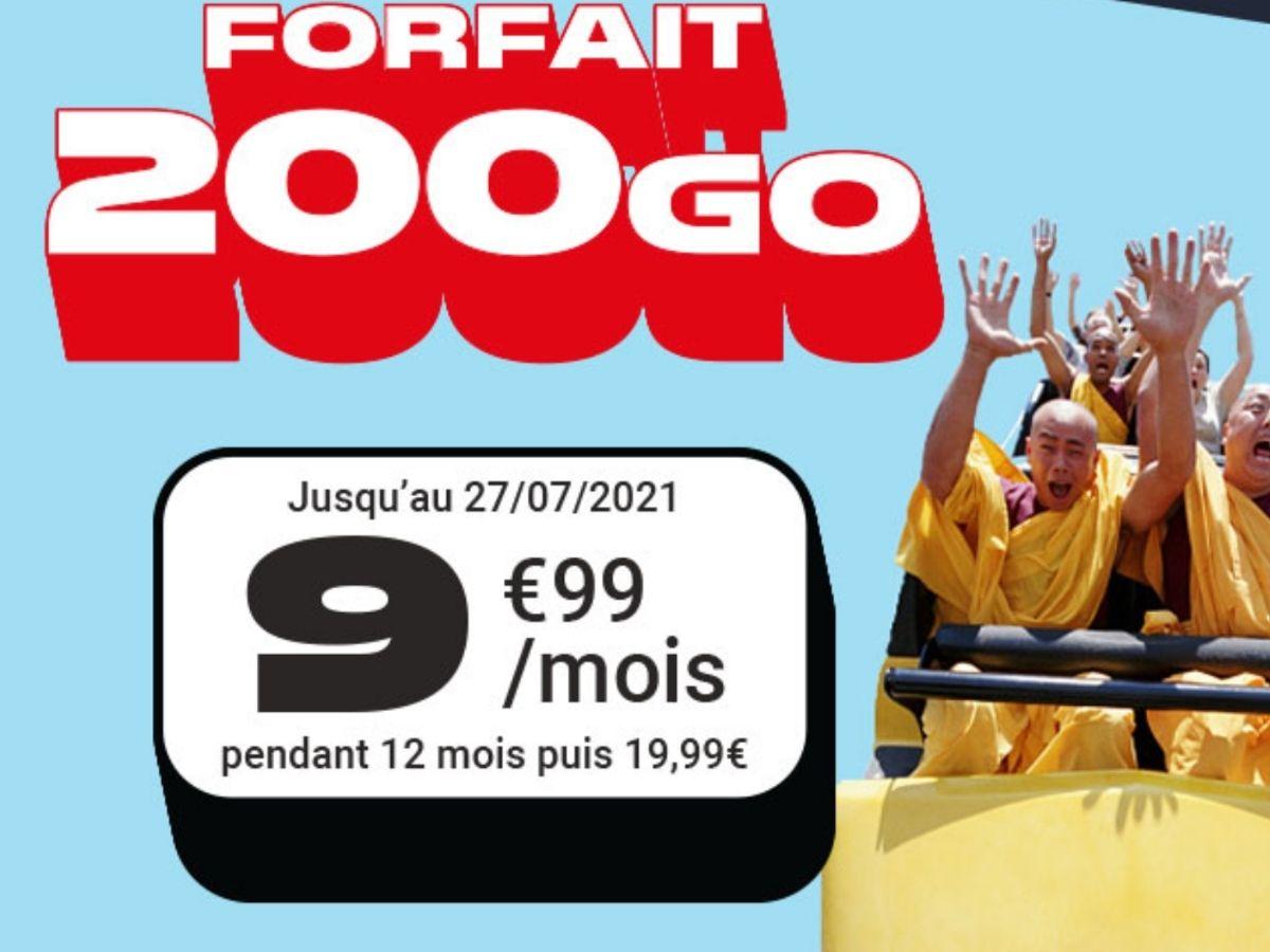 Bon plan forfait : 200 Go pour 10€ chez NRJ Mobile, qui dit mieux ?