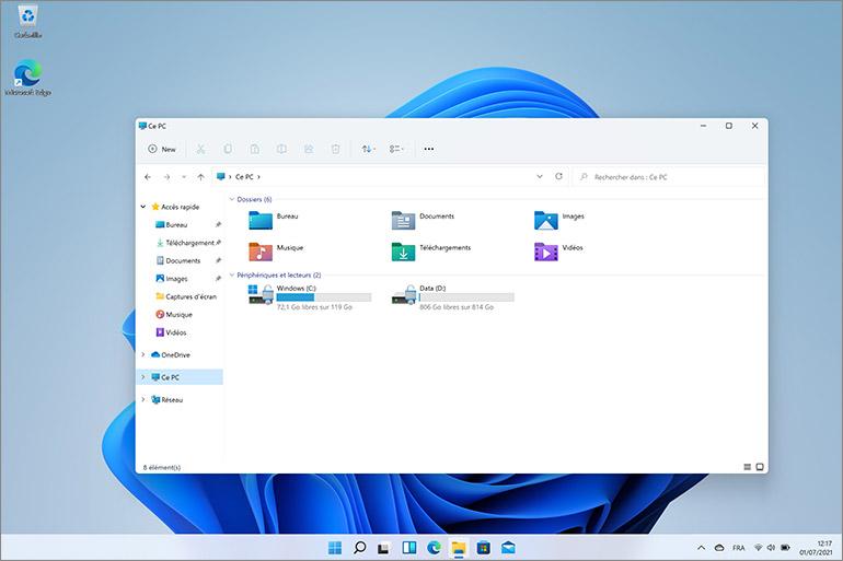 Explorateur Windows 11
