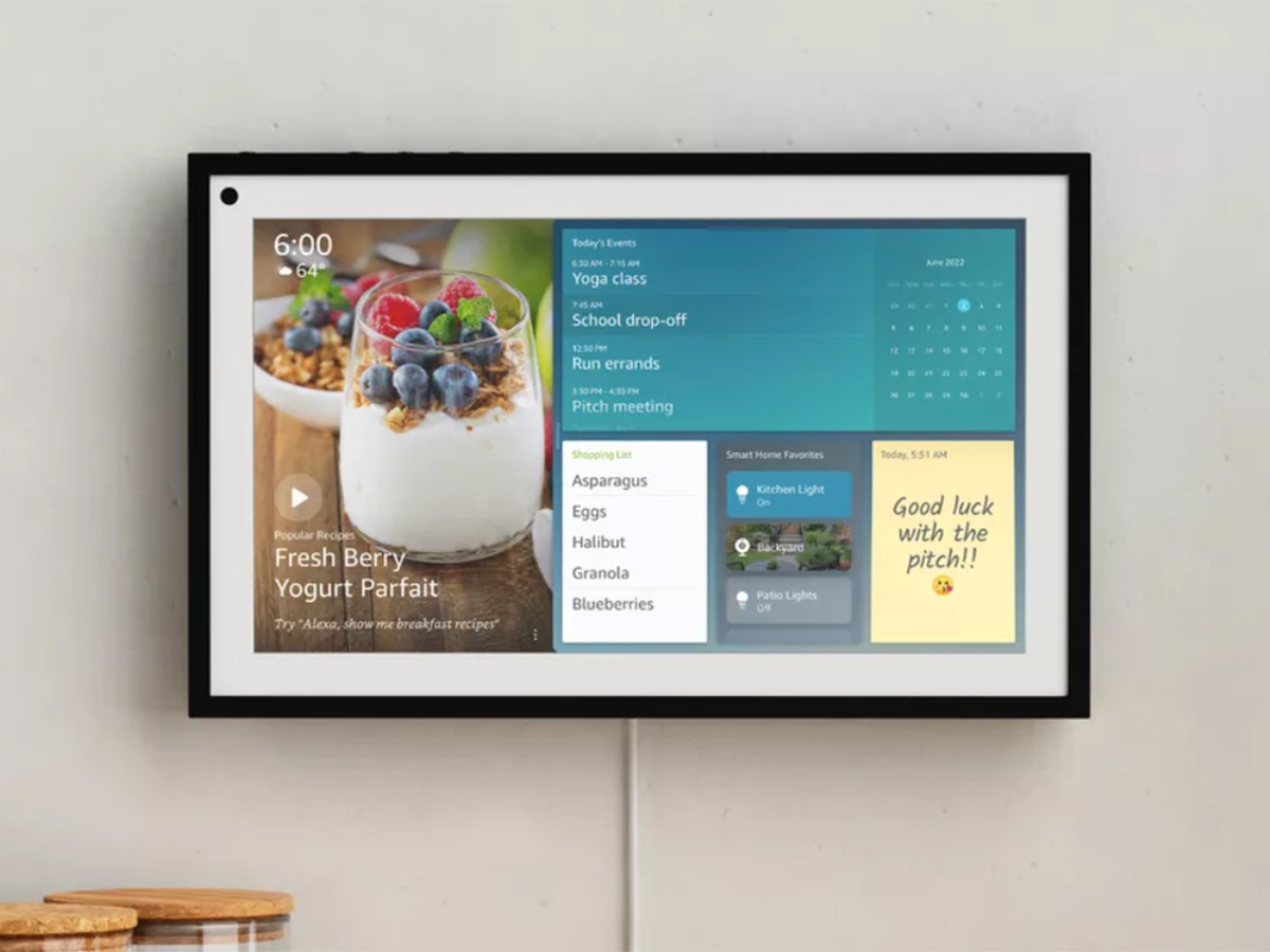 Echo Show 15 : l'écran intelligent d'Amazon devient un cadre connecté