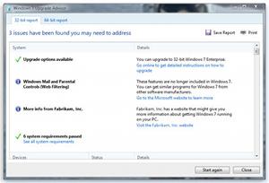 Windows 7 Upgrade Advisor 2.0.4000.0