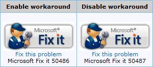 Rustine Microsoft Fix it 50486 (faille icônes)