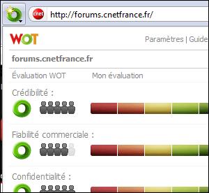 WOT pour firefox, chrome, internet explorer...