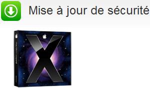 Mise à jour de sécurité Mac OS X 10.5 Leopard 2010-005