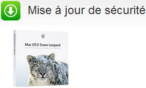 Mise à jour de sécurité Mac OS X 10.6 Snow Leopard (Version 006) 2010-006