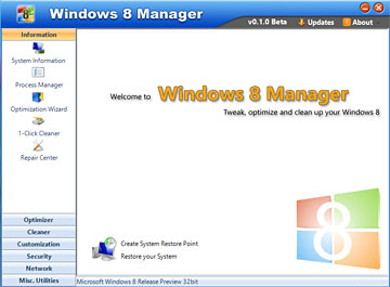 Windows 8 Manager (Bêta) bêta