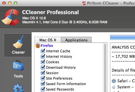 CCleaner pour Mac 1.09