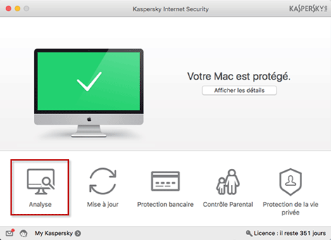 Kaspersky Internet Security pour Mac 2016