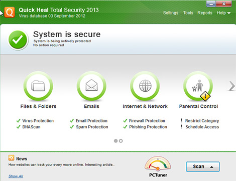 Quick Heal Total Security 17.0