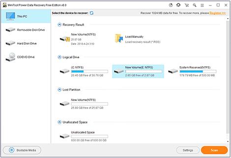 MiniTool power data recovery 8.1
